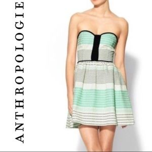 Anthropologie Ella Moss Strapless Mini Dress M